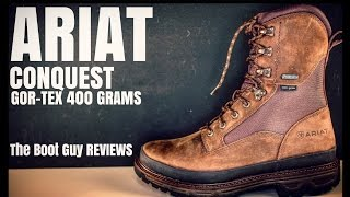 """ARIAT Conquest 8"""" Gtx 400g [ The Boot Guy REVIEWS ]"""