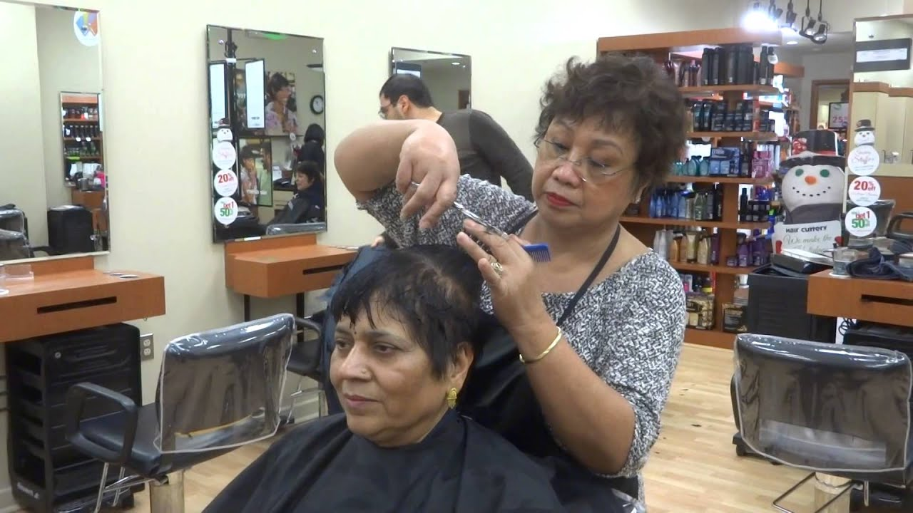 Aruna Suraj Sharma In Hair Cuttery 467 Crystal City Underground