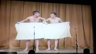 Irish Cavan lads do the towel dance