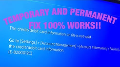 hqdefault - How To Fix Credit Card Invalid Ps4