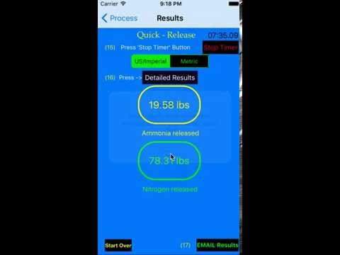 Leak Calculator App Chemical Flow and  Quantity - Quick Release