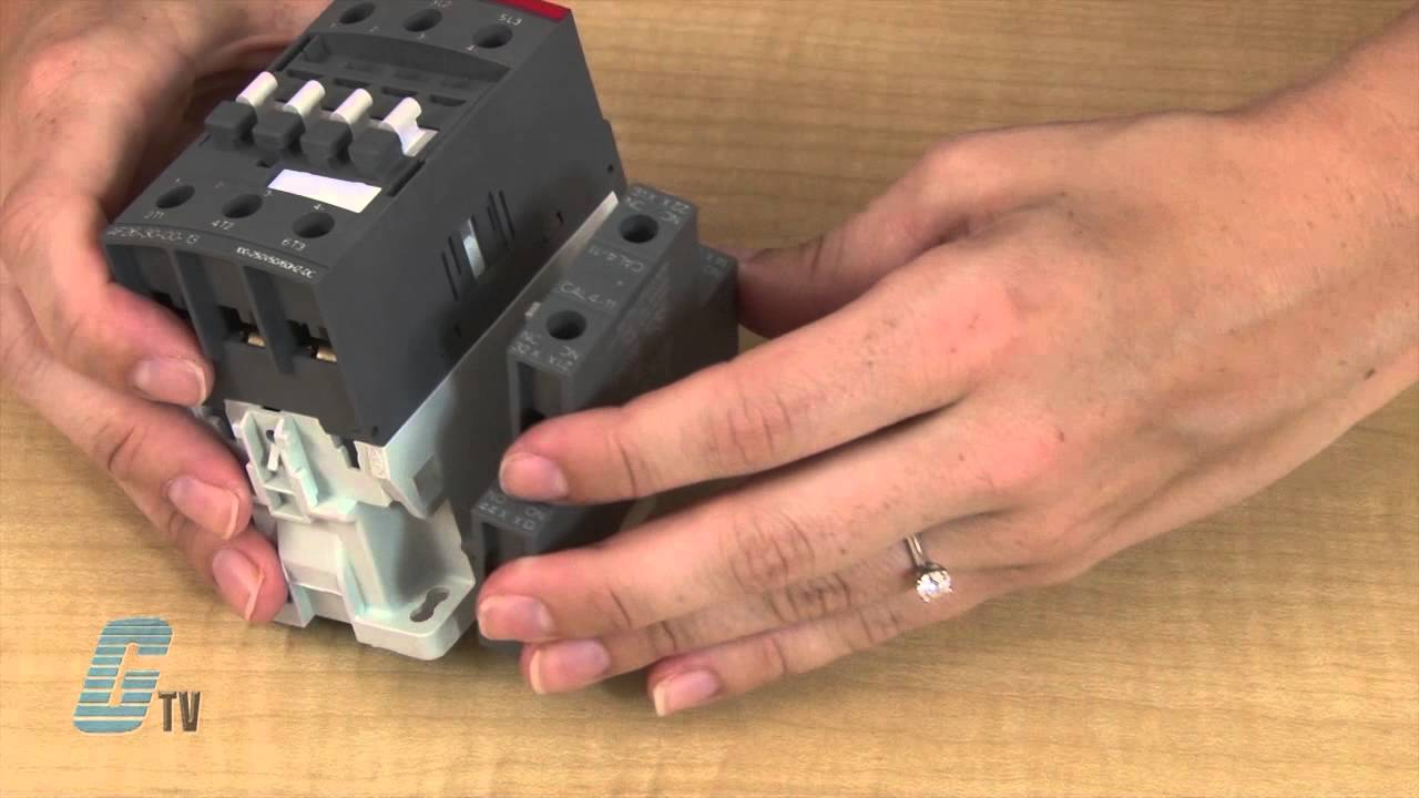 how to install auxiliary contacts on the abb af series of contactors [ 1280 x 720 Pixel ]