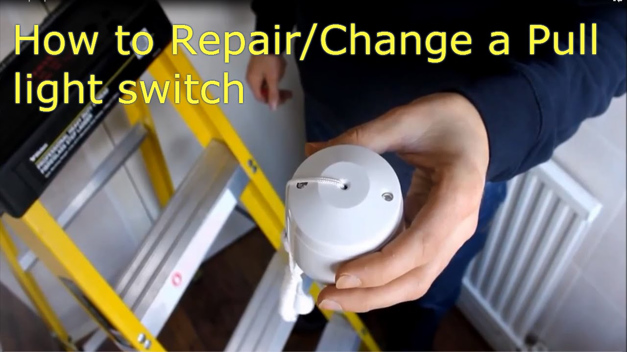 How To Repair Change A Pull Cord Light Switch Video Explanation Wiring On Without Ceiling Mount Moreover Install Fan Youtube