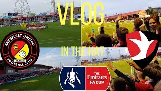 In the hat! Ebbsfleet United vs Cheltenham town vlog! FA cup first round