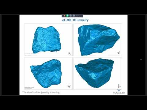 eLUXE3D eZScan Software and DS3 Gold 50mm FOV Jewelry Scanner Demonstration