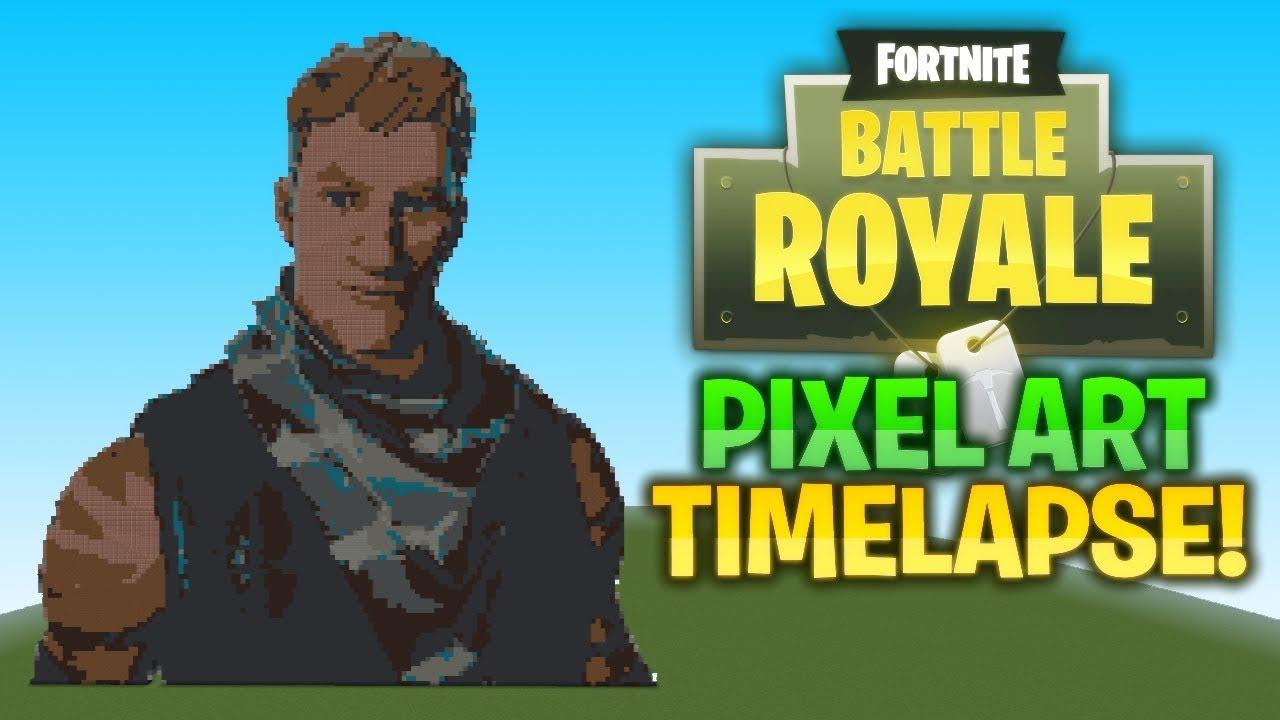 Minecraft Pixel Art Timelapse Fornite Battle Royale Charecter