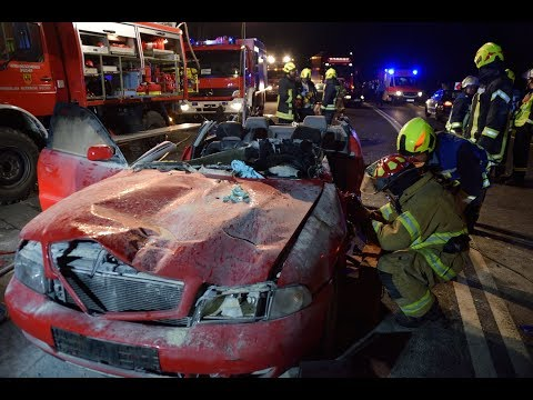 Schwerer Unfall: Auto