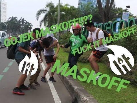 MASKOFF IN PUBLIC FT GOJEK DRIVER EKZIZ!!!! #MASKOFFCHALLENGE by X- CREW INDONESIA