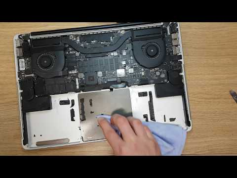 Apple A1398 macbook pro 2015 how to replace battery easy and fast. Clean after