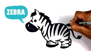 How to Draw a Zebra - Chibi - Easy Pictures to Draw