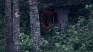 Real Ghost Caught on Camera in Haunted Forest!! Scary Video Footage 2018