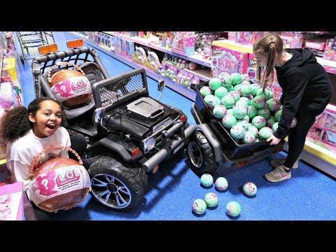 100 LOL Surprise Dolls Toy Hunt - Power Wheels Ride On Car thumbnail