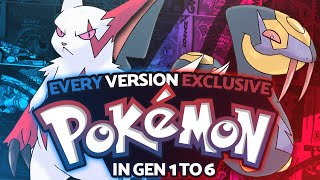 Every Version Exclusive Pokémon in Generation 1 to 6 w/ Supra!