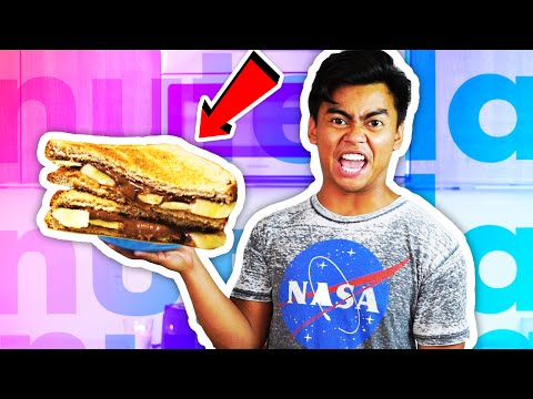 DIY How To Make NUTELLA SANDWICH!