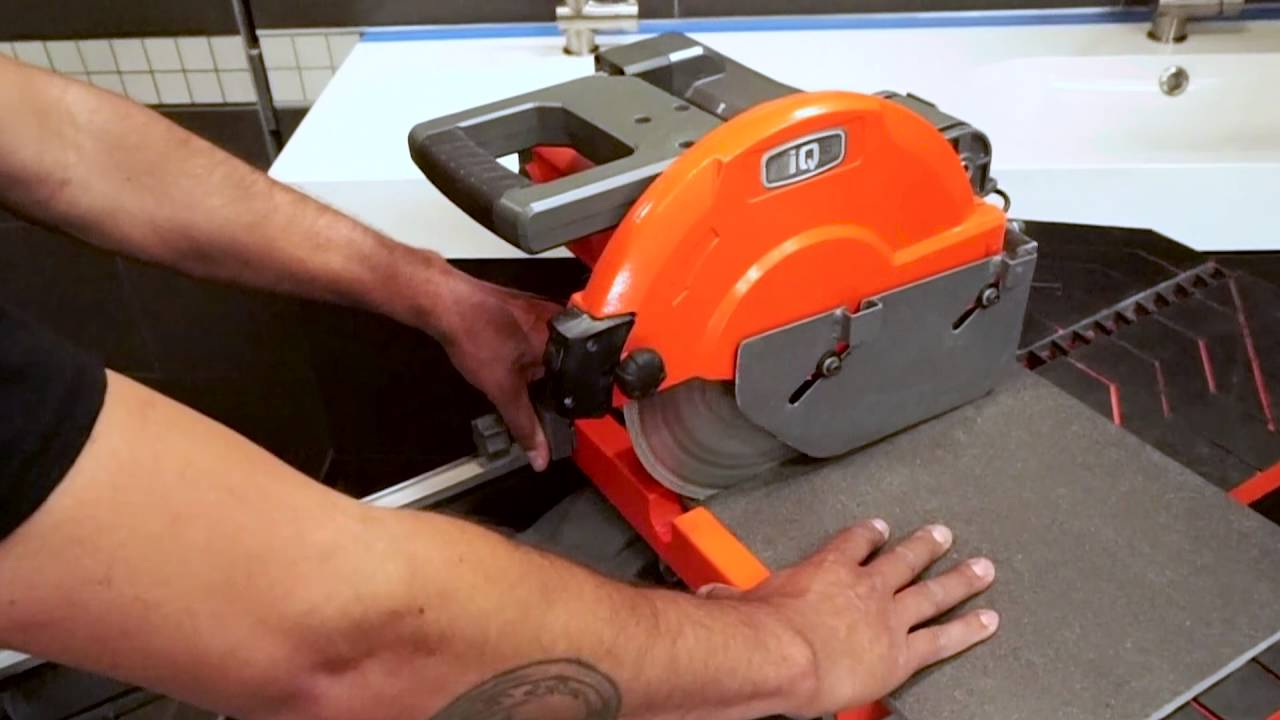 Iqts244 The World S First Dry Cut Tile Saw With Integrated Dust Collection You