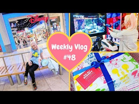 Weekly Vlog #48 | Gifts from DisneyStore, My Weekly Food Shop & Arcade Fun!!