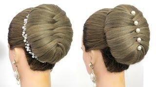 Легкие прически на длинные волосы Стильная прическа Пучок