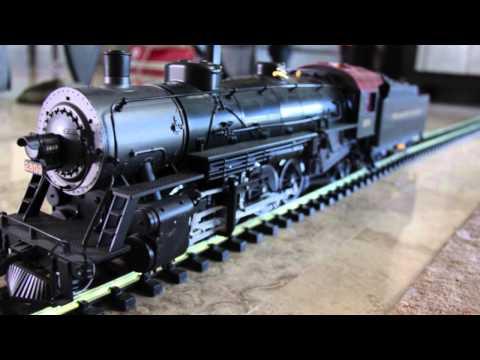 Test run for LGB Pennsylvania Mikado Steam Engine and Tender #21872