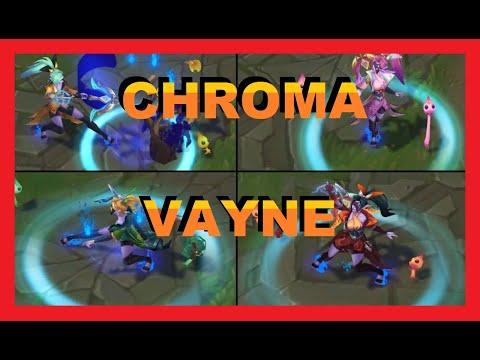🏹CROMAS de VAYNE FLORECER ESPIRITUAL lol 2020 (SPIRIT BLOSSOM CHROMA)- league of legends🏹