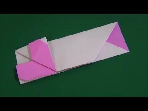 ハート 折り紙 折り紙箸袋折り方 : youtube.com