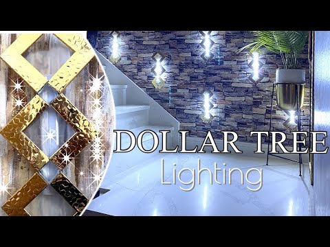 New DOLLAR TREE LIGHTING IDEAS! Stairwell Lighting Idea!