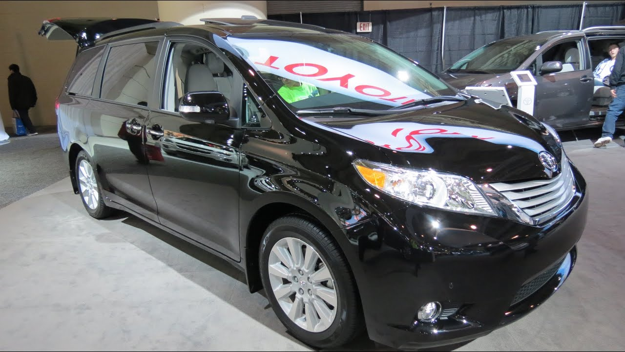 2013 Toyota Sienna XLE V6 Limited At The 2013 Canadian Int Auto Show