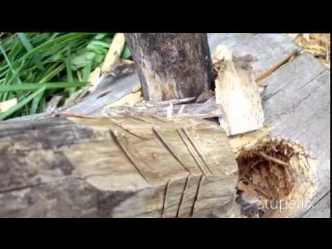 wood stool making
