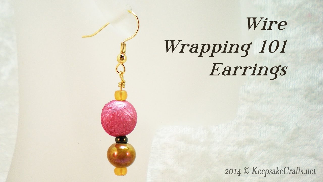 Wire Wrapping 101 - Simple Beaded Earrings Tutorial - YouTube