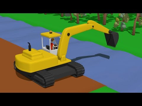 Street Vehicles - #Excavator #Bulldozer #Truck and other construction equipment for Kids and Babies