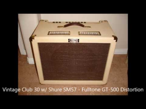 crate vintage club 30 electric guitar amplifier testing for studio recording youtube. Black Bedroom Furniture Sets. Home Design Ideas