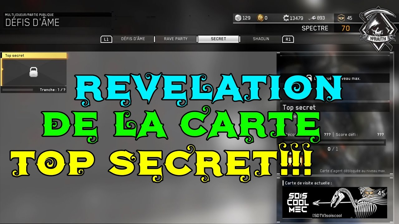 Rvlation De La Carte Top Secret Visite News CoD IW