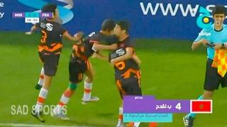 أهداف مباراة المغرب 2-2 فرنسا نهائي كأس ج العالمية - تعليق حفيظ دراجي