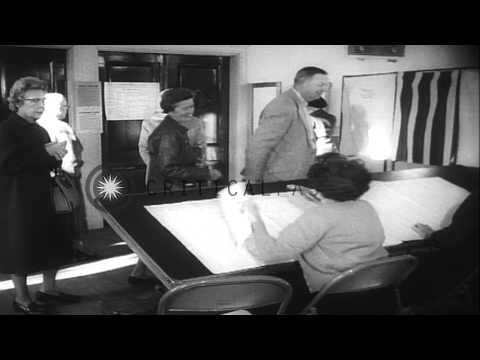 John F. Kennedy wins the Presidential election in United States. HD Stock Footage