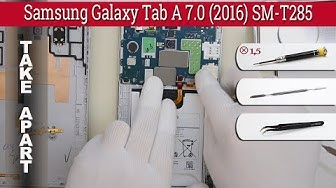 How to disassemble 📱 Samsung Galaxy Tab A 7.0 2016 SM-T285 Take apart Tutorial