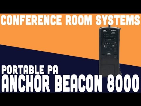 Anchor Beacon 8000 portable PA - How to use for Web Conferencing