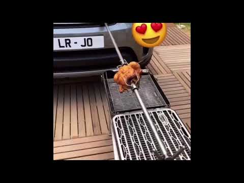 Land Range Rover And Chicken BBQ. / Range жарит курицу