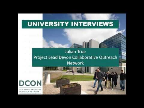 University Interviews with DCON