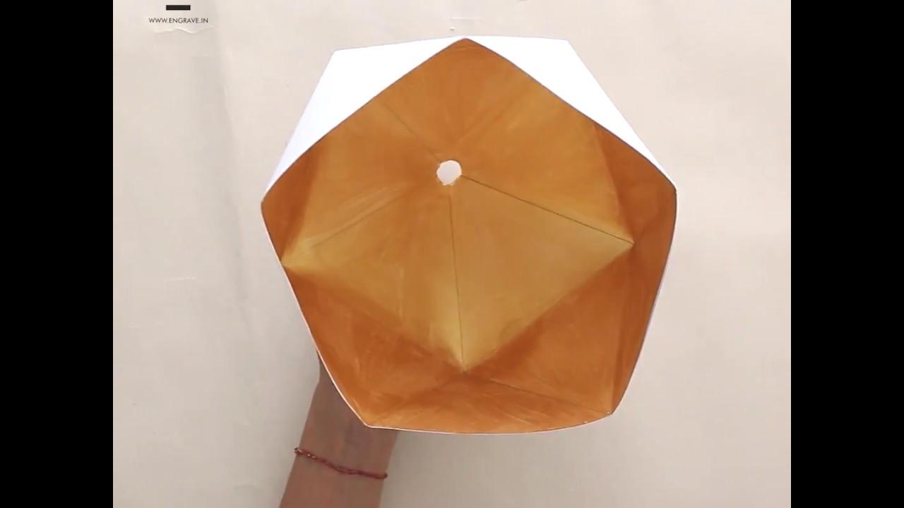 Diy papercraft geo lampshade youtube mozeypictures Choice Image