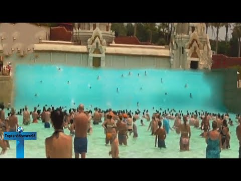 Top 10 Largest Artificial Waves   Scary Wave-pools!