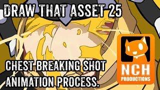 Draw Dat Asset: Chest Breaking Shot process