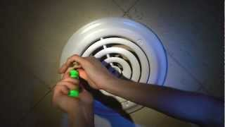 TruAire SmoothGlide Ceiling Diffuser Damper Installation Retrofit Vent Cover Heating Cooling HVAC