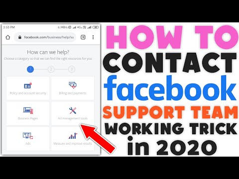 How To Chat With Facebook Support Team | How To Contact Facebook Support Team In 2020