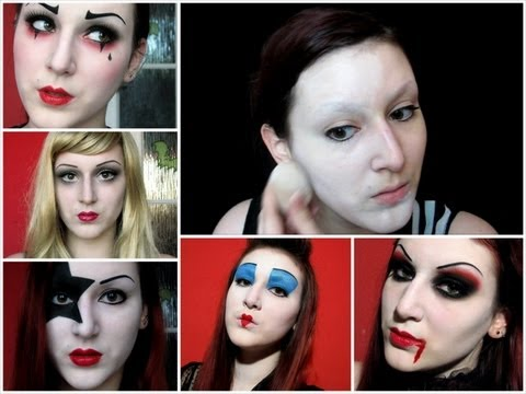how to flawless white face halloween costume makeup