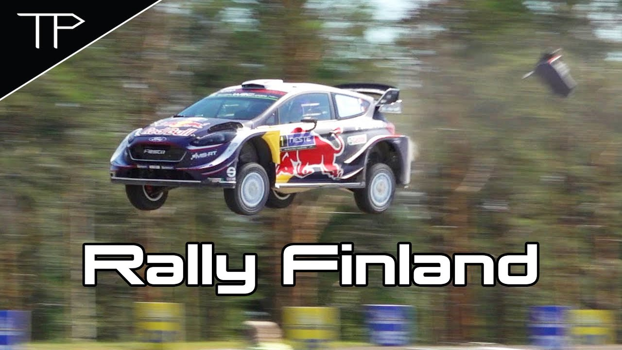 WRC Neste Rally Finland 2018 - Highlights, max attack & big jumps