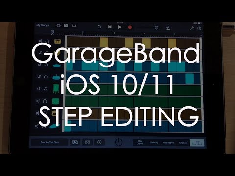 Garageband for iOS 10 / 11: Step editing drums - classic old school editing on an iPad