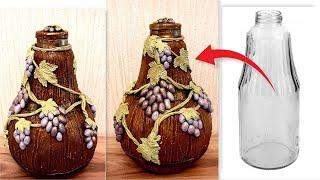 DIY /Glass Bottle Decoration Idea /Bottle craft