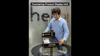 Transparent Counter Top Product Display Unit - Ships flat, Instant Assembly, Economical Pricing
