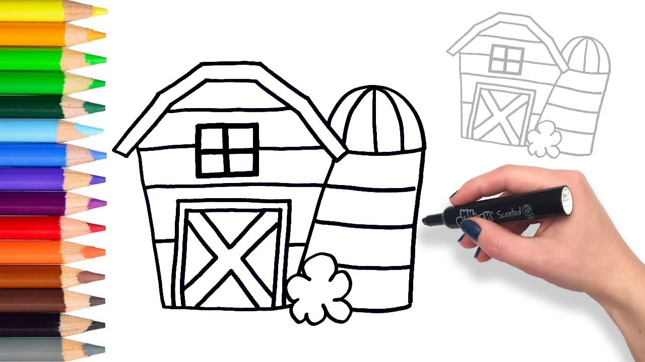 Learn How To Draw Farm Animal Barn