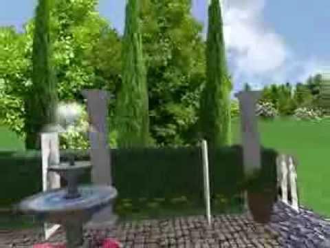 Landscaping design ideas greco roman garden youtube for Roman garden designs