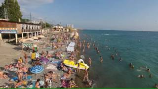 Лазаревское Сочи пляж морская звезда (4К полный экран)